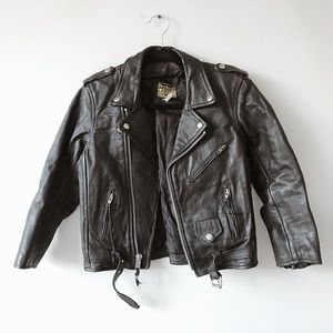 80s Leather Motorcycle Jacket